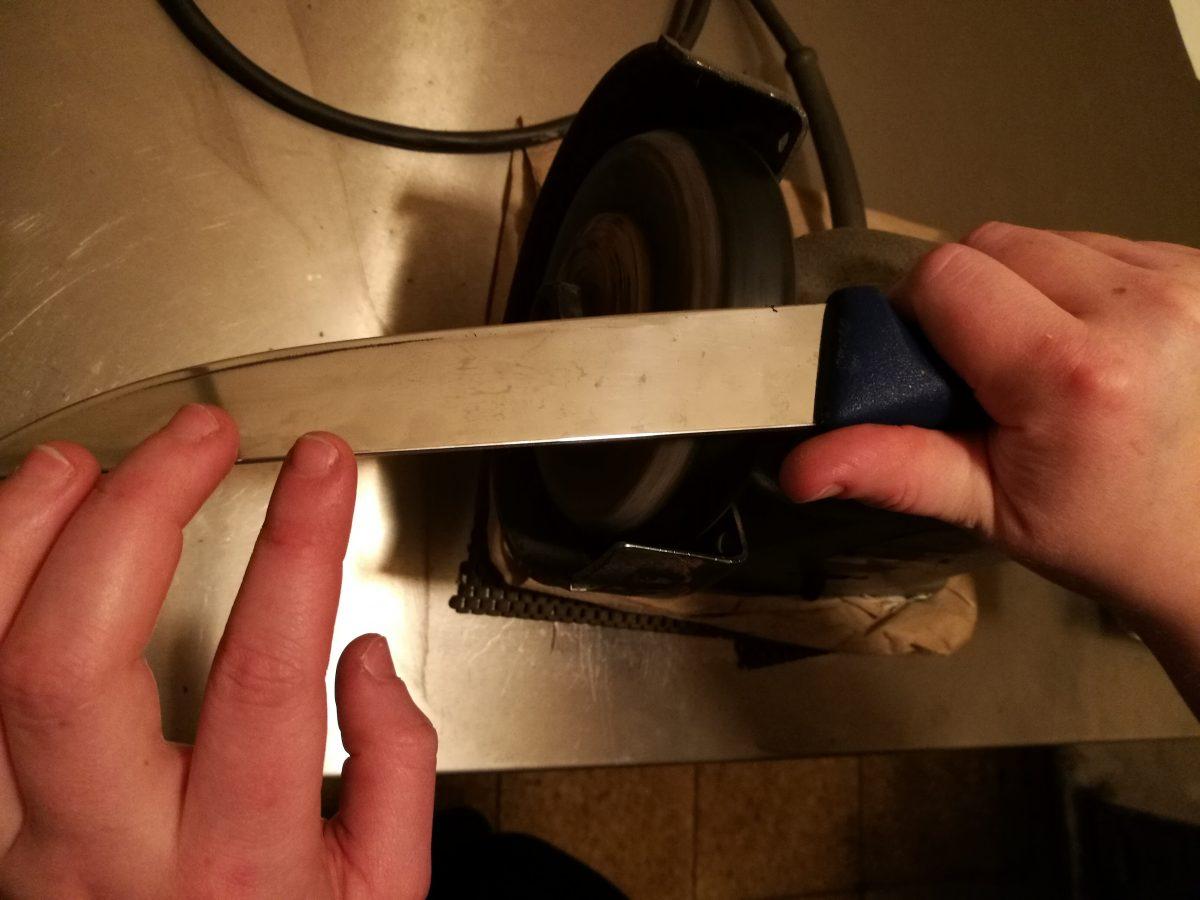 Messerschleifen muss geübt sein